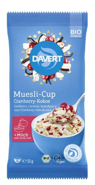 Muesli-Cup Cranberry-Kokos 55g